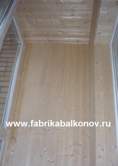 Отделка деревянной вагонкой балконов и лоджий