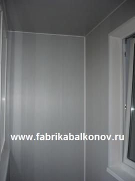 Отделка ламинированными пластиковыми панелями балконов и лоджий