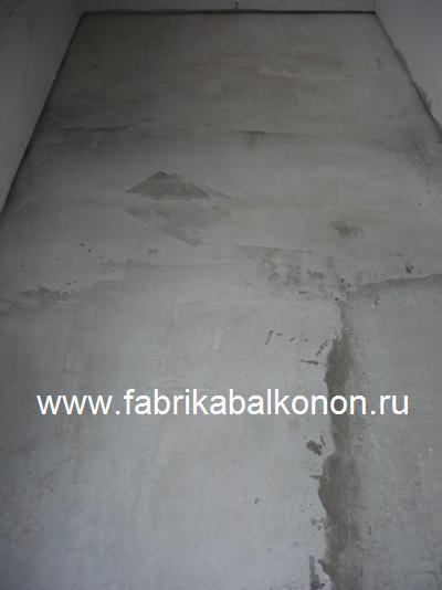 Устройство пол из бетона (песко-бетонной смеси) на балконах и лоджиях