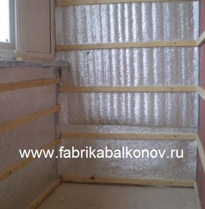 Утепление балконов и лоджий рулонным фольгированным понофолом, изолоном, теплофолом